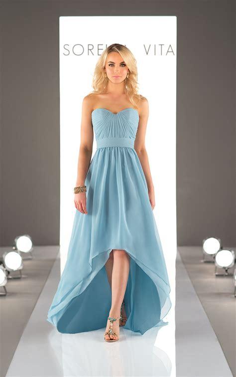 chiffon high  bridesmaid dress sorella vita