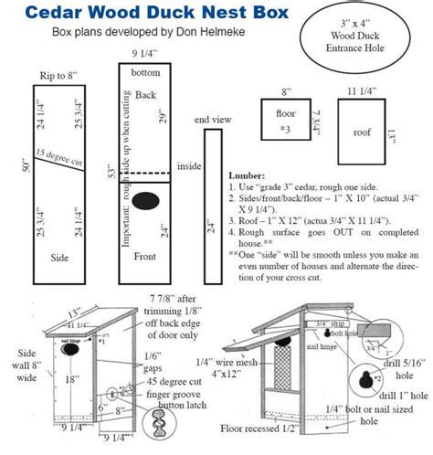 Diy Wood Duck House Plans Free Plans Free