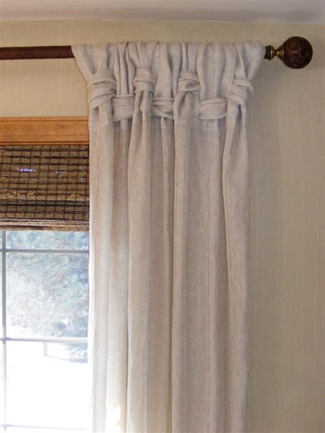 curtains hair style linen panel treatments designed by michael john tropical