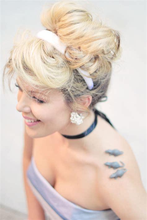 hair and makeup tutorials cinderella costume diy modern day style hair makeup