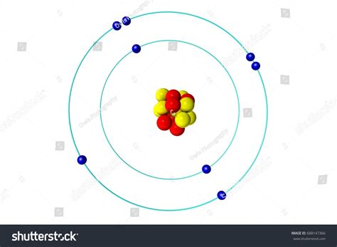 Protons And Neutrons In Oxygen by Oxygen Atom Proton Neutron Electron 3d Stock Illustration