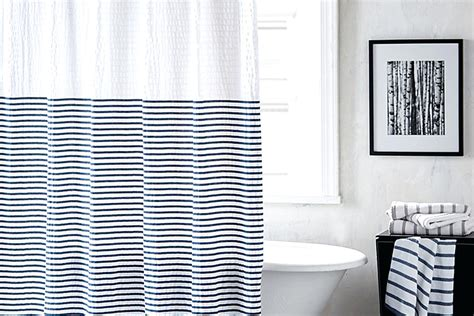 grey and white striped bathroom better homes and gardens porter stripe fabric shower