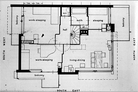 schroder house floor plan front