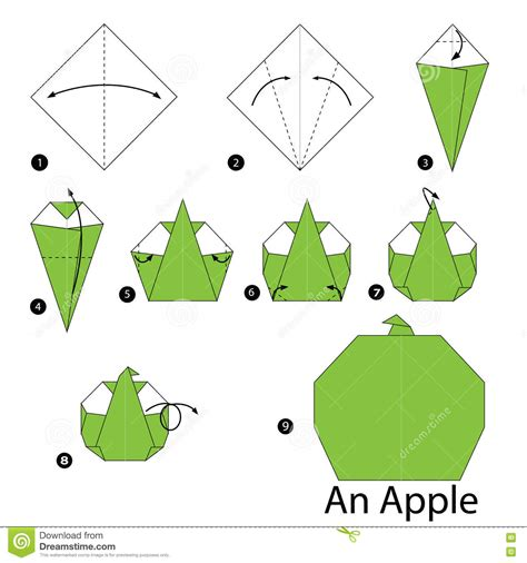 Apple Origami - step by step how to make origami an apple