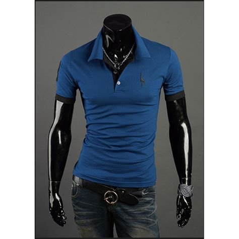 t shirt owl casual pria kaos polo shirt pria leisure casual t shirt size l blue