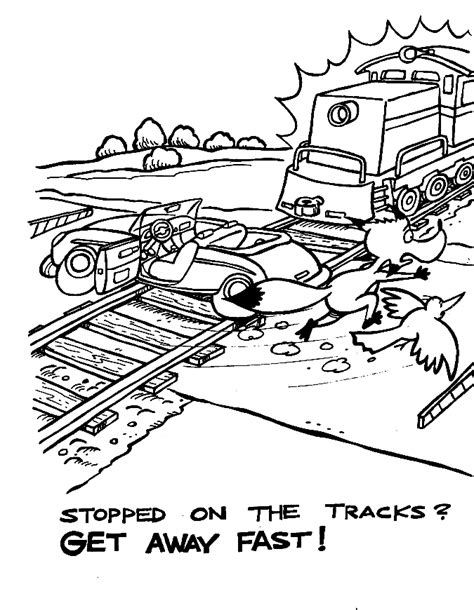 train crossing coloring page free caution sign coloring pages