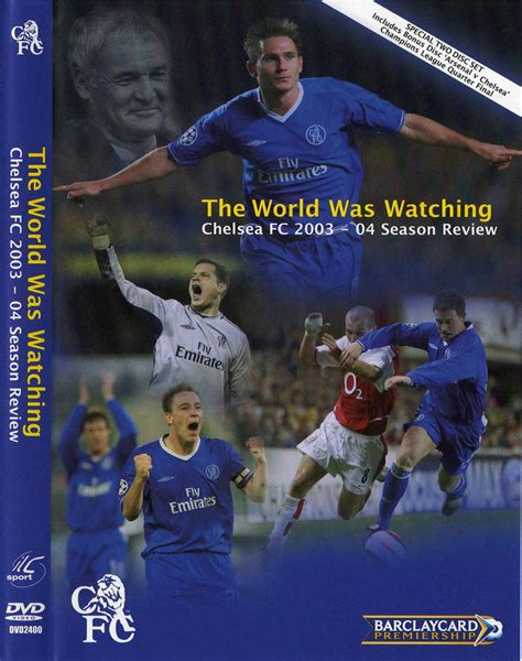 Dvd Chelsea The The Goals The chelsea fc season review 2003 04 2 x dvd9 pakman s