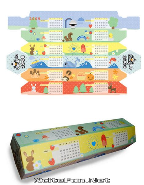 Paper Craft Calendars - box paper craft calendar 2009 xcitefun net