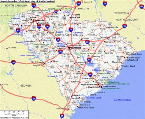 map of south carolina with cities south carolina powder coaters customcoaters