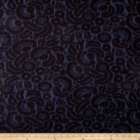 fabric pattern overlay stretch denim lace overlay black navy discount designer