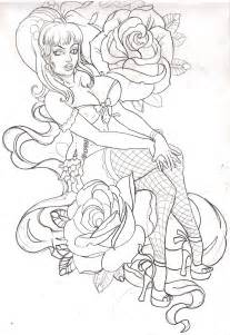 pin up coloring pages pinup sketch by mojoncio on deviantart