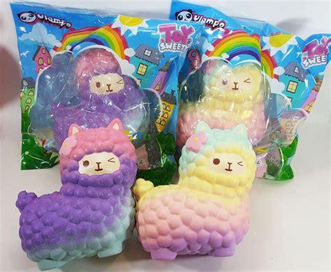 Rainbow Galaxy Moon Bun Squishy toysweety thailand soft jumbo rainbow galaxy llama