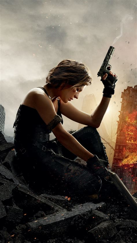 wallpaper resident evil  final chapter milla jovovich