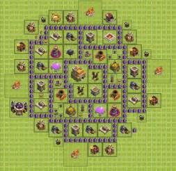 Inilah kumpulan lengkap base town hall 7 clash of clans untuk farming