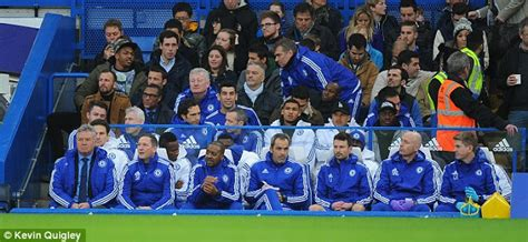 the bench coach chelsea bench before and after jose mourinho exit sees
