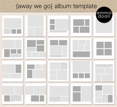 photo album page layout templates away we go album template 12x12 travel album