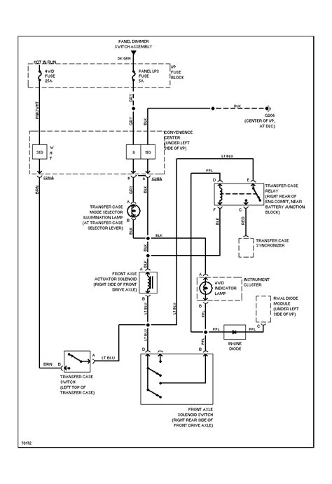 1993 chevy truck 4wd wiring diagram wiring diagram with