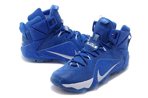royal blue nike basketball shoes cheap nike lebron 12 royal blue silver white basketball shoes