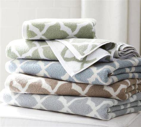 marlo jacquard organic bath towels pottery barn