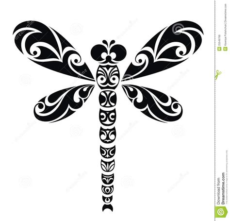 dragonfly vector illustration ready for vinyl cutt royalty