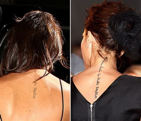 beckham tattoo removal victoria beckham s tattoo is almost gone why celebs laser