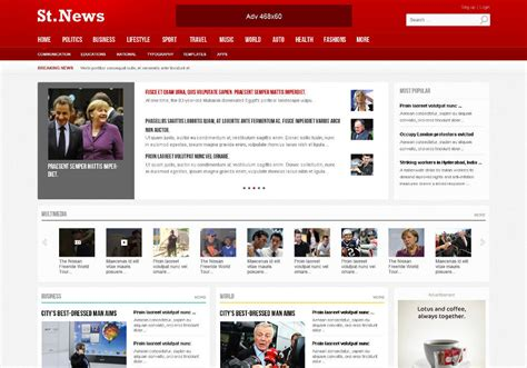 theme drupal news quatro responsive drupal news theme symphonythemes