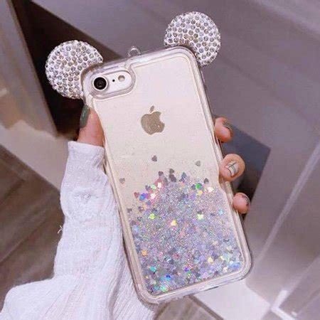 iphone   iphone    holographic silver mickey