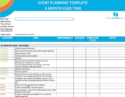 The Ultimate Event Planning Template Enhance Entertainment Corporate Event Planning Template
