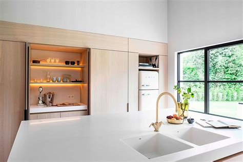 belgian kitchen design refined relaxation 70 s belgian bungalow altered into a