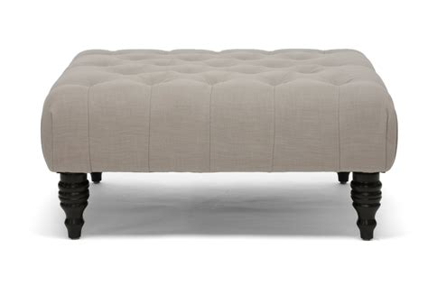 how tall should an ottoman be baxton studio keswick beige linen modern tufted ottoman