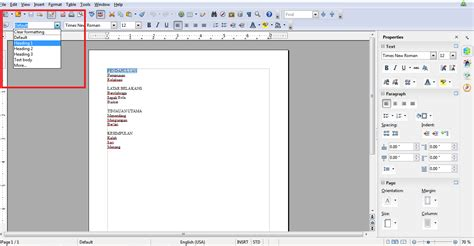 membuat nomor halaman openoffice cara membuat nomor urut bab dan sub bab secara cepat dan