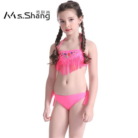 Child Girl Swimwear Bikinis | 2017 child girl swimwear bikini set cute children swim