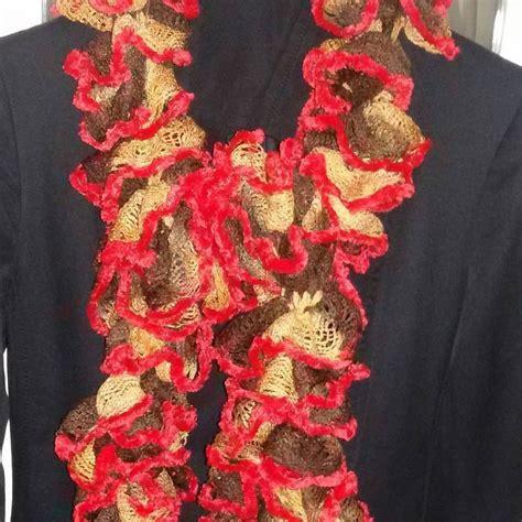 sciarpa volant sciarpa donna handmade con volants donna abbigliamento