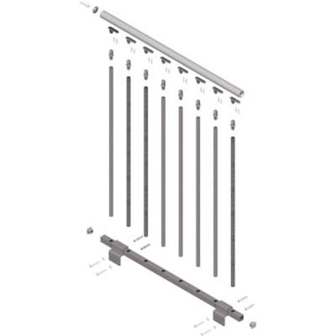 Banister Kit by Dolle Oslo 42 In Landing Banister Continuous Kit
