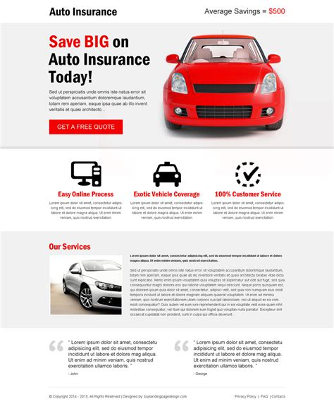 get free auto insurance quotes zip lp 036 auto insurance auto insurance responsive landing page design template for