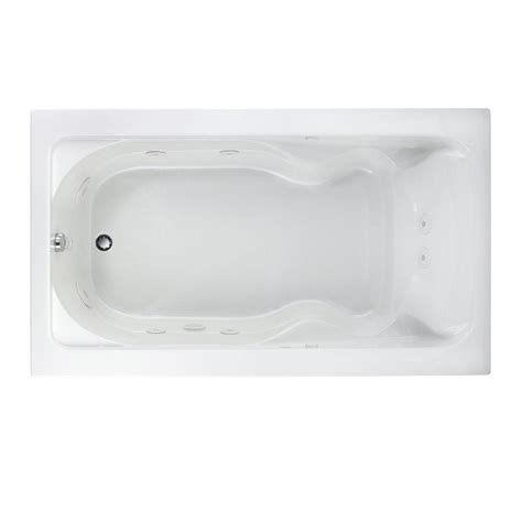 american standard cadet bathtub american standard cadet 6 ft x 42 in whirlpool tub in white 2774 018w 020 the home
