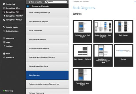 Rack Design Software by Network Diagramming Tools Design Element For Rack
