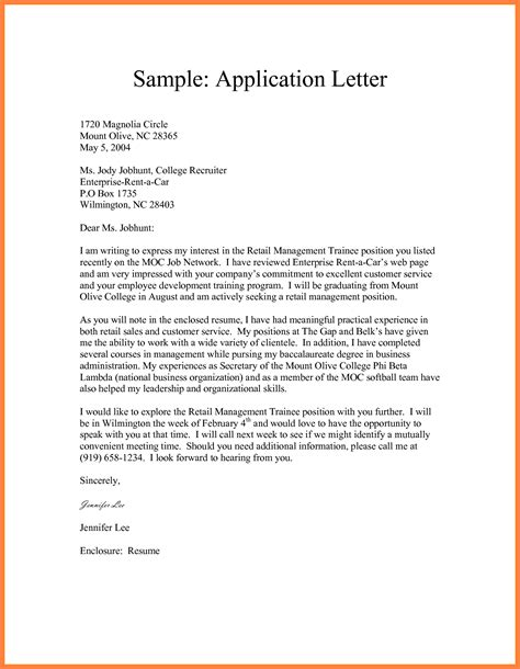 Cover Letters For Resumes Sample by Formal Application Format Ins Ssrenterprises Co