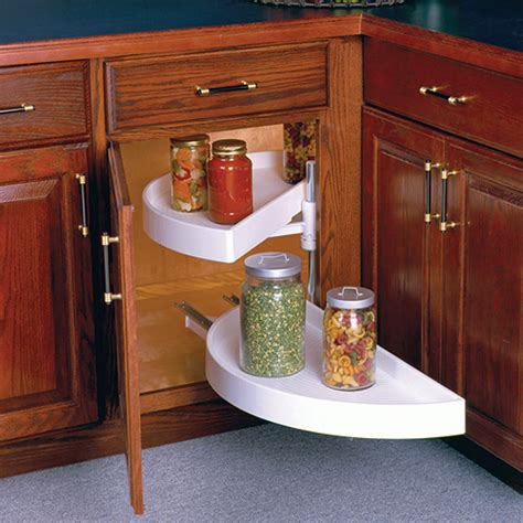 Kitchen Cabinet Lazy Susan 28 Inch Lazy Susan Pivot And Glide Half Moon In Cabinet Lazy Susans