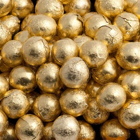 gold foiled chocolate balls wedding sweets at favour this