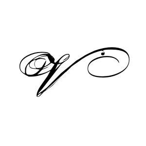 tattoo for alphabet v romantic style v monogram vinyl wall art lettering decor