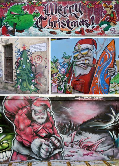 seasons graffitis  santalicious christmas murals