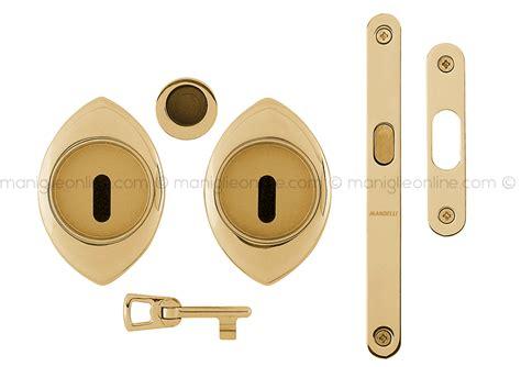 serratura per porta scorrevole maniglia per porta scorrevole con nottolino completa di