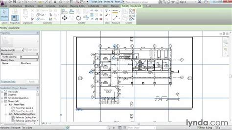 revit tutorial grid aligning views with a guide grid