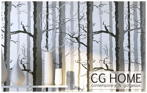 Peel And Stick Removable Wallpaper | wood wallpaper foggy tree peel and stick removable by cghome