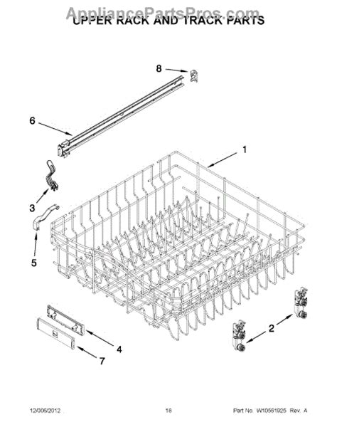 Jenn Air Dishwasher Replacement Racks by Parts For Jenn Air Jdb8000awb1 Rack And Track Parts Appliancepartspros