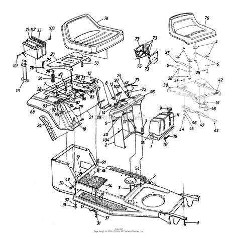 mtd yard machine parts diagram mtd 13ae451f000 1998 parts diagram for fender dash