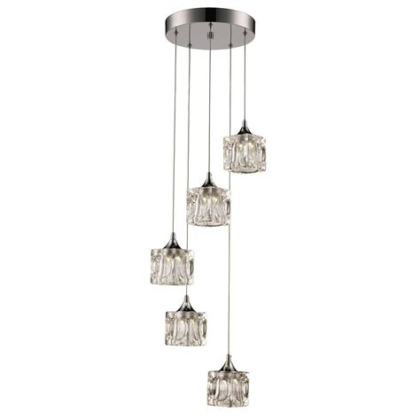 home decorators collection pendant lights home decorators collection 3 light polished chrome led