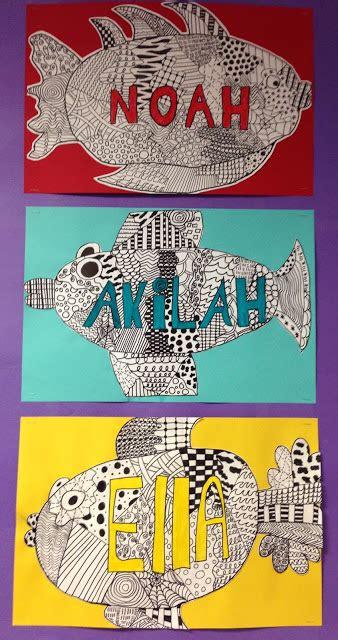 apex pattern works apex elementary art here fishy fishy