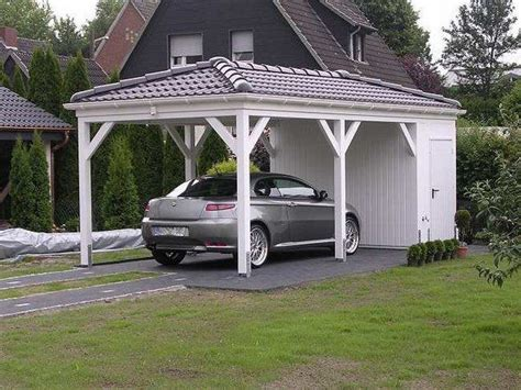 Carport Roof Designs by Wooden Carport Solid Roof Garage Shed Ideas House Exterior